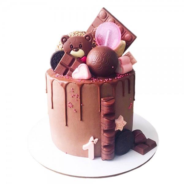 Rodjendanska torta za decu sa slagom sa medvedom model 108