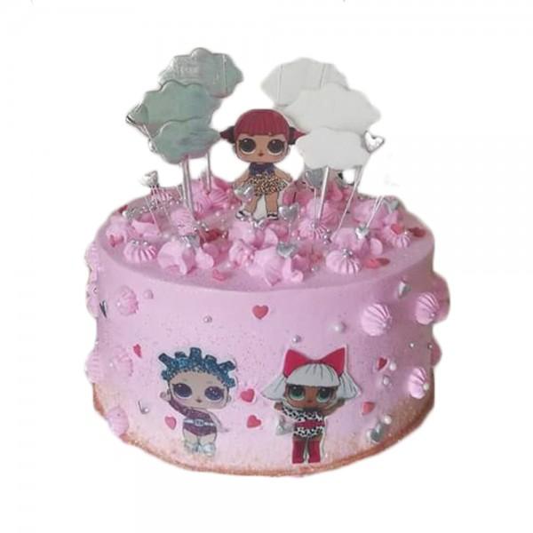 LOL pink torta okrugla