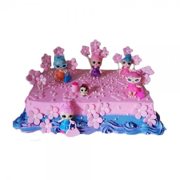 LOL pink torta