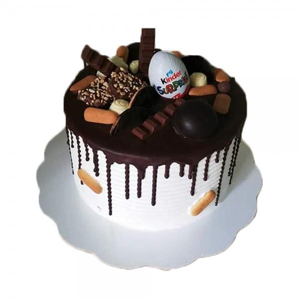 Okrugla torta sa kinder jajetom