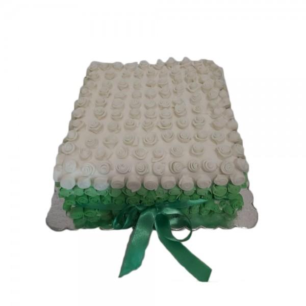 Belo zelene pufne torta
