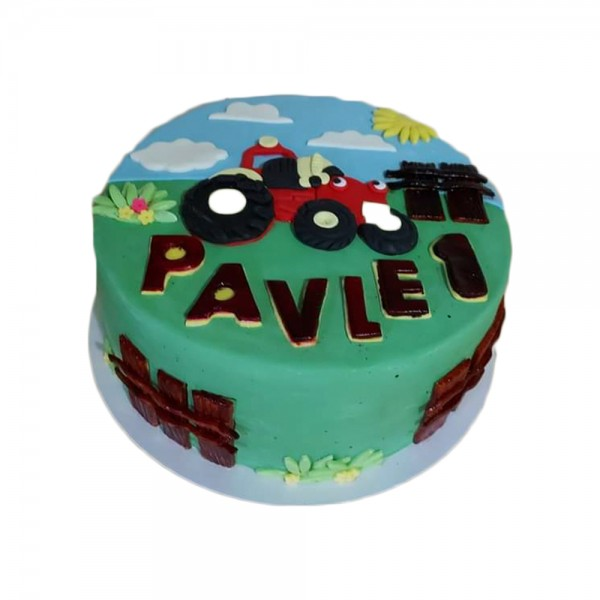 Torta za malog traktoristu