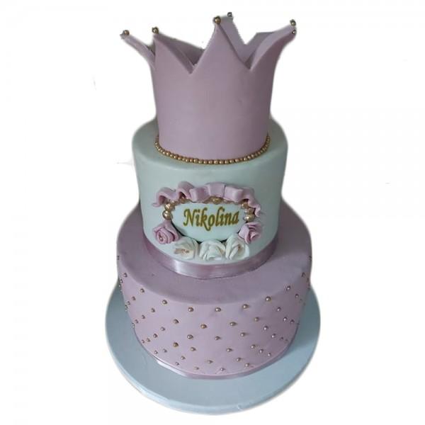 Torta za princeze sa krunom