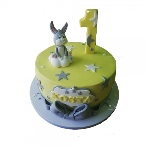 Torta za prvi rodjendan Zeko Peko