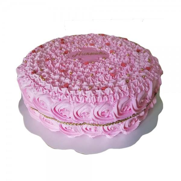 Vazdusasta pink torta