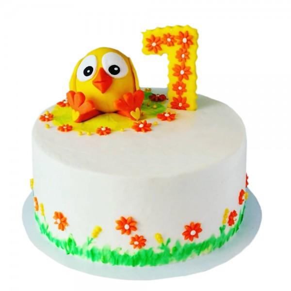 Torta za prvi rodjendan sa zutim piletom