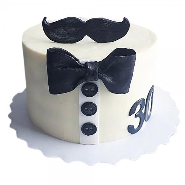 Torta za rodjendan sa brkovima i tregerima