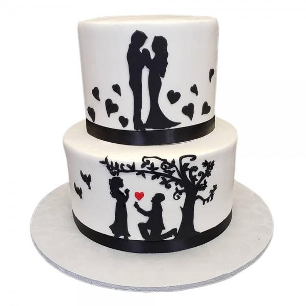 Svadbena i veridbena torta