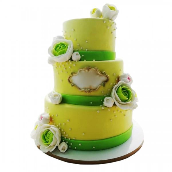 Svadbena torta sa lotusima