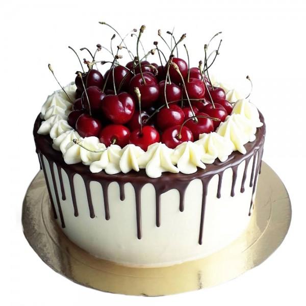 Svecana torta prelivena cokoladom i visnjama