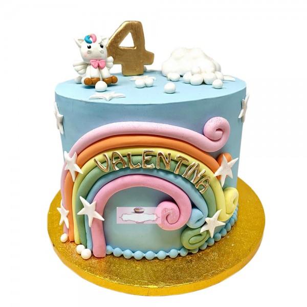 Torta za cetvrti rodjendan jednorog