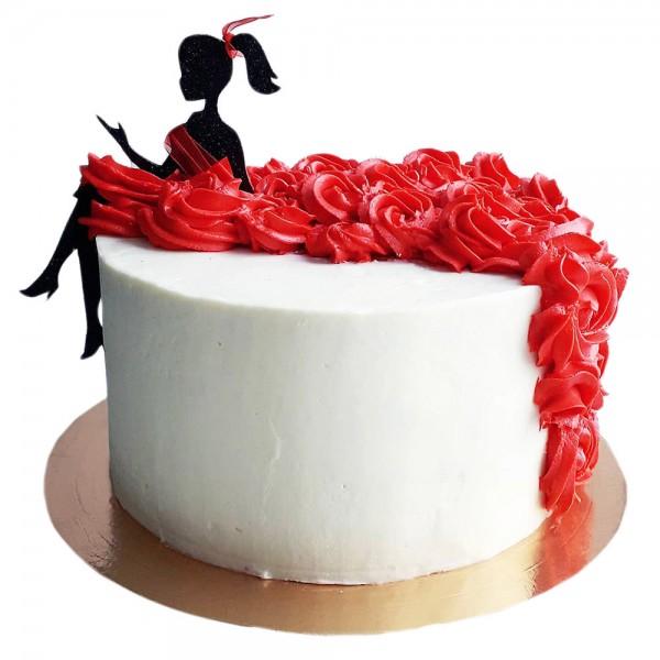 Svecana torta sa figurom dame