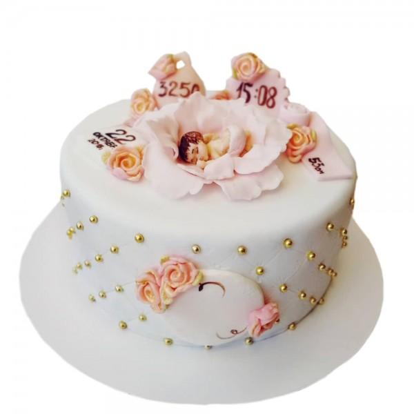 Torta beba u kolevci od cveta