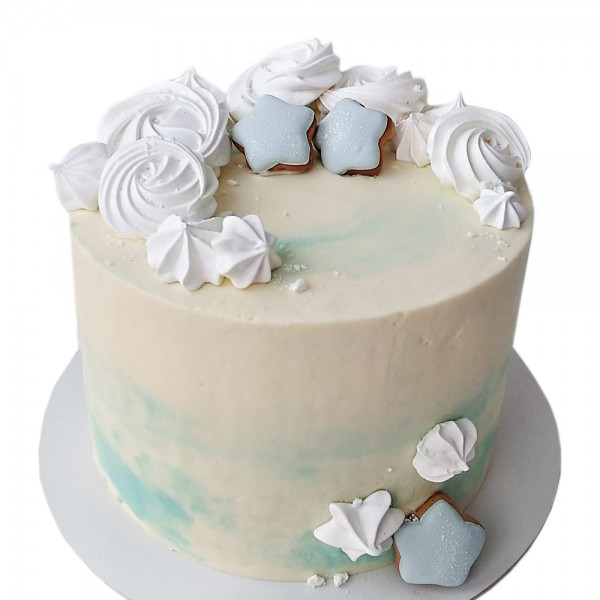 Bebi plava torta sa zvezdicama