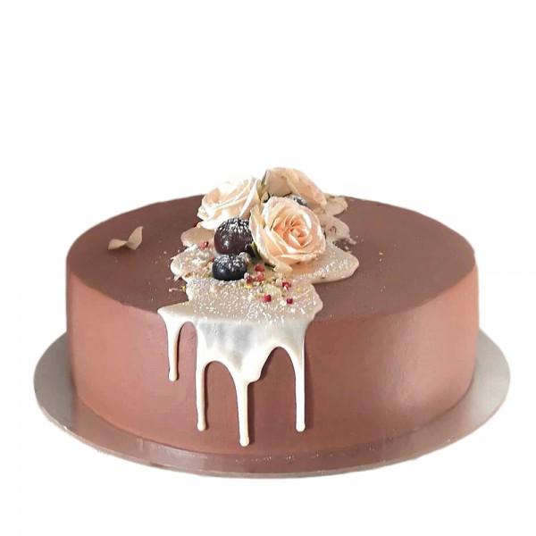 Mini elegantna torta moderno braon