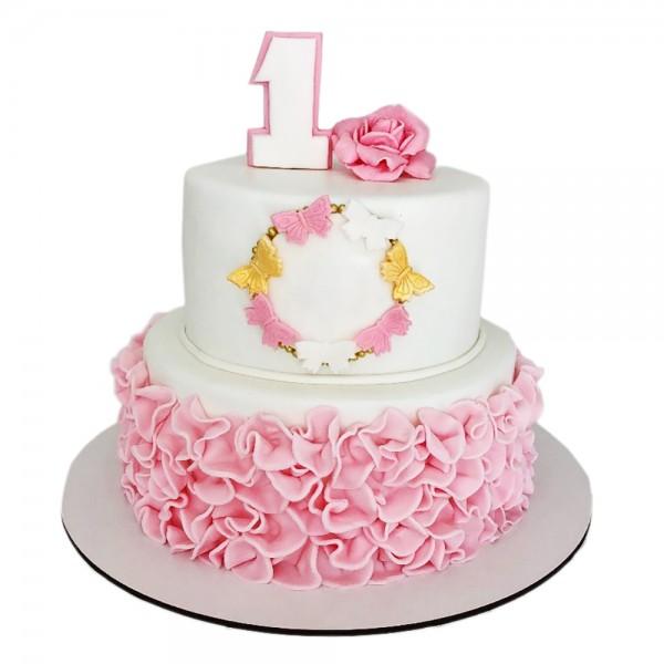 Rodjendanska torta za princeze pink