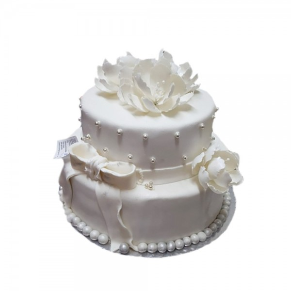 Svadbena torta kristalno bela
