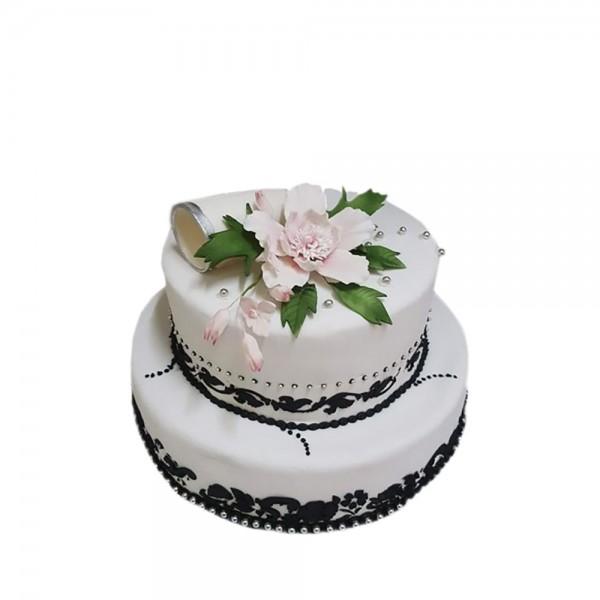 Mladenacka torta sa casama sampanjca model 200