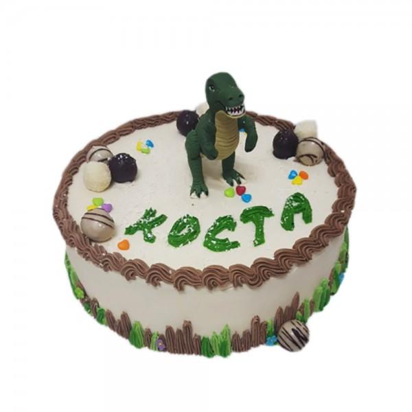 Rodjendanska torta za decake sa dinosaurusom model 116