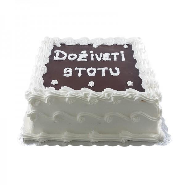 Jednostavna bela mini torta